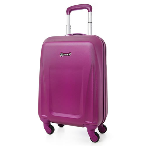 5Cities Purple 55x35x20cm 2.5Kg Carry On Cabin Bag