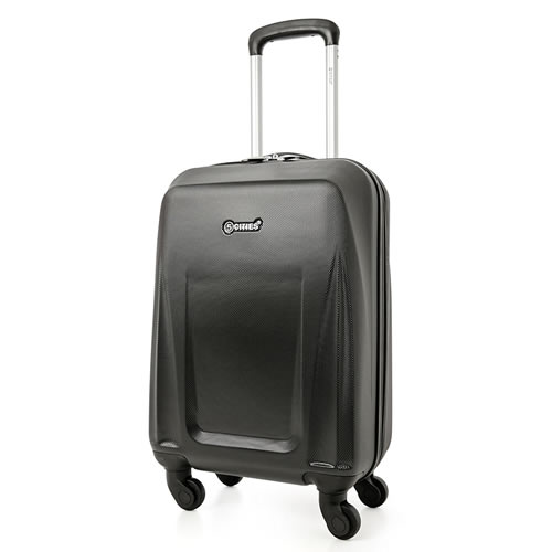 5Cities Atlantico Black 55x35x20cm 2.5Kg Carry On Cabin Bag