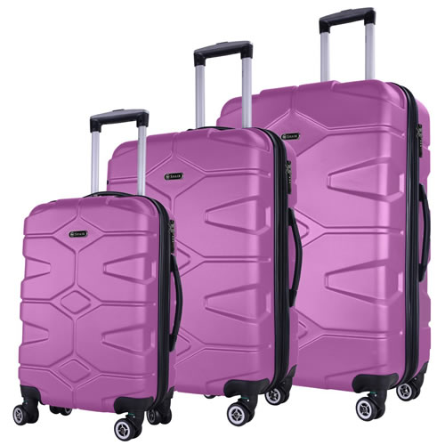 Razzer 3Piece Luggage Set Hardshell Lilac