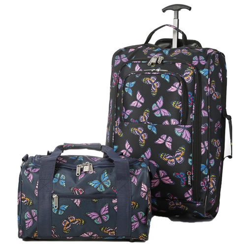 Perfecto Ryanair Maximum 2 CabinBag Set Butterfly Navy