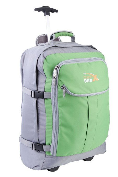 Cabin Max Trolley Backpack 55x40x20cm 1.7Kg Grey Green