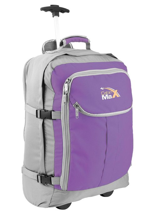Cabin Max Trolley Backpack 55x40x20cm 1.7Kg Grey Purple
