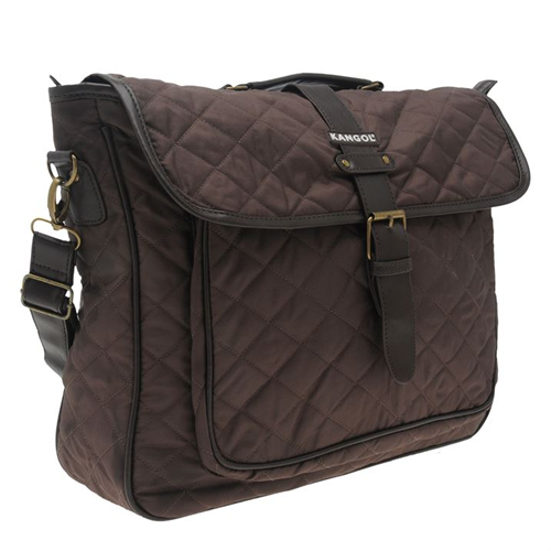 Quilted Satchel  35x20x20cm Business Brown