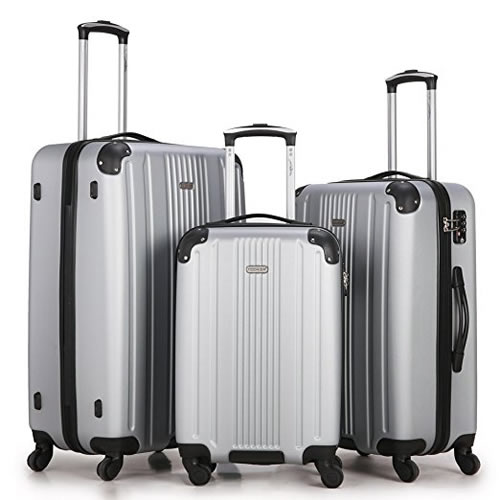 Fochier 3 Pieces Luggage Set ABS Travel Lightweight