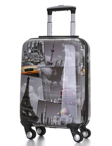 Skymax 55 Cities 55x35x20cm Hard Shell Polycarbonate Cabin Bag 4 Wheels