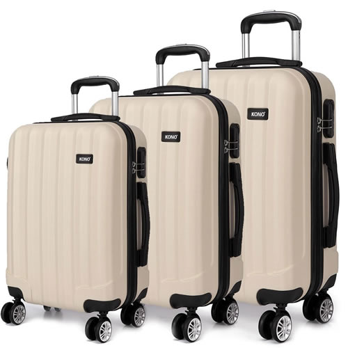 Kono 3 Piece Luggage Set Hardshell ABS