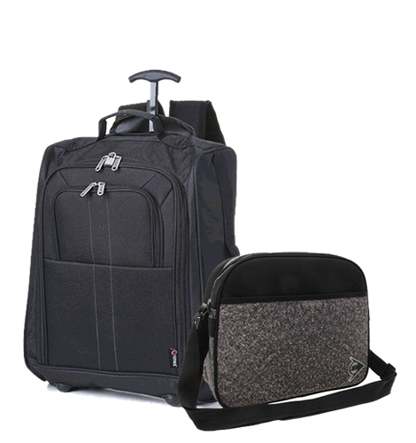 LondonFlyers Cabin Backpack and FauxTweed Shoulder Bag