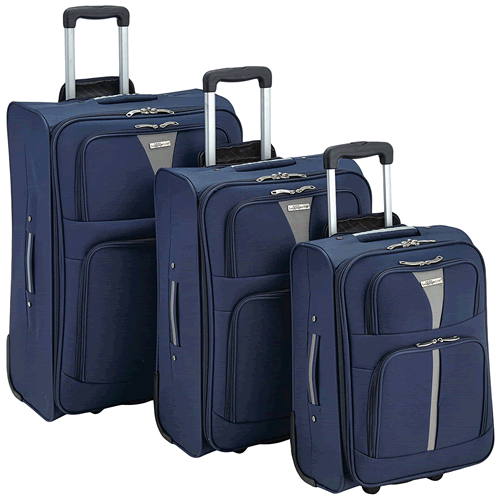 Luggage Zone Ultra Light Three Piece Suitcase Set 2 Wheel S/M/L