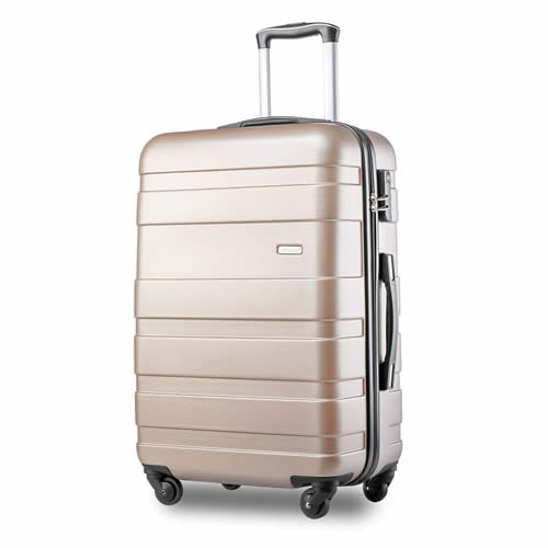 Merax ABS Hard Shell Carry On 4 Wheels Golden
