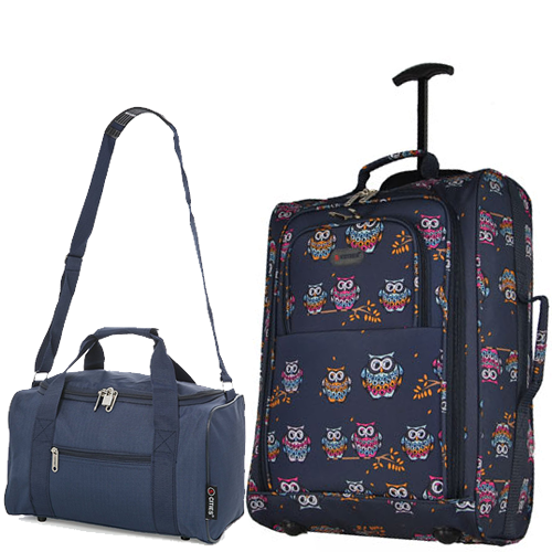 Perfecto Ryanair Maximum 2 CabinBag Set Owl Navy Twin
