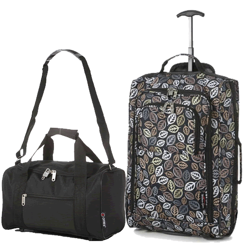 Perfecto Ryanair Maximum 2 CabinBag Set Black Leaf