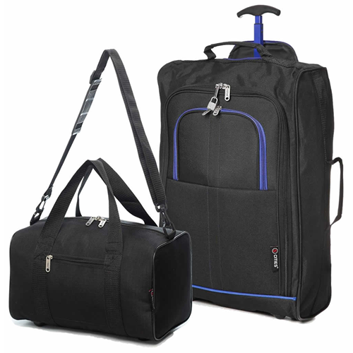 Perfecto Ryanair Maximum 2 CabinBag Set Blue Trim