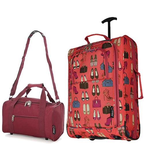 Perfecto Ryanair Maximum 2CabinBag Set Peach Wine