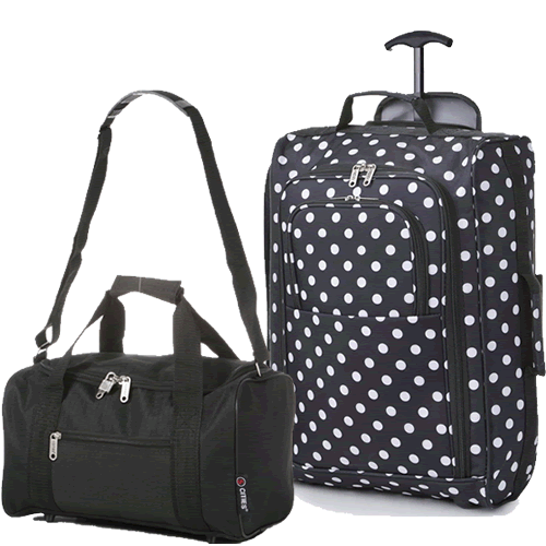 Perfecto Ryanair Maximum 2 CabinBag Set Polka Black