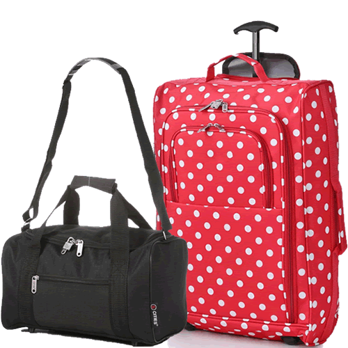 Perfecto Ryanair Maximum 2 CabinBag Set Polka Red