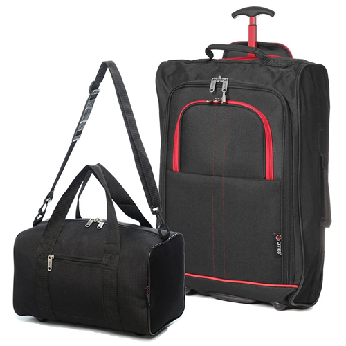 Perfecto Ryanair Maximum 2 CabinBag Set Red Trim