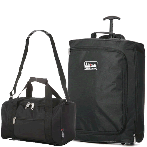 Perfecto Ryanair Maximum 2 CabinBag Set Skyline Black