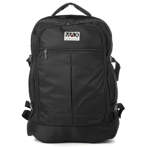 LondonMax 55x40x20cm 0.8Kg Backpack 44Ltrs Black