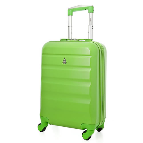 Skyline 50 Ryanair 4Wheel Cabin Bag 50x35x20cm 2.5Kg Hardshell Green