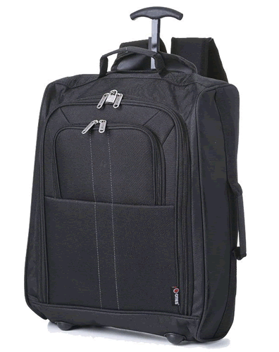 Skymax Black 5Cities Trolley Backpack 55x40x20cm 1.5Kg