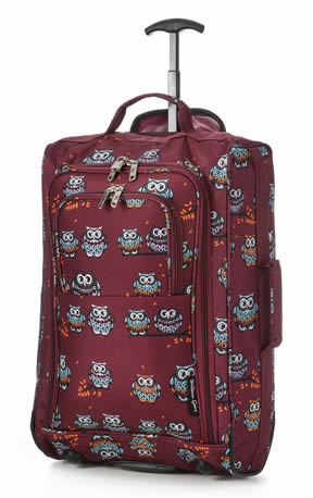 Night Owl Ryanair Maximum 55x40x20cm 1.4Kg Burgundy