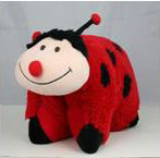 Smiling Lady Bug 2 in 1 Travel Toy Pillow